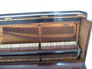 Broadwood upright. Nice treble.  Never broke strings. Tuned by Underwater Piano Shop Sept. 7th 2013
