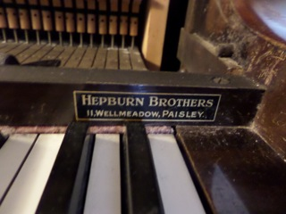 Hepburn Brothers of Paisley solf the Holbein upright piano way back