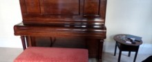 1) Hamburg Model K wrong-legged bench;